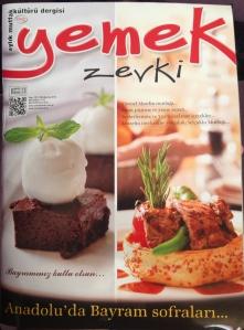 yemek zevki Dergisi - Ağustos 2013