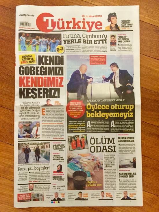 BURCU ÇETİNKAYA - 23 Kasım 2014 - Türkiye gazetesi - 001