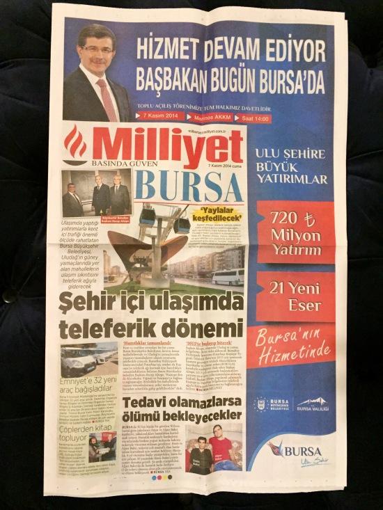 KENT MEYDANI HABER - MİLLİYET BURSA 001