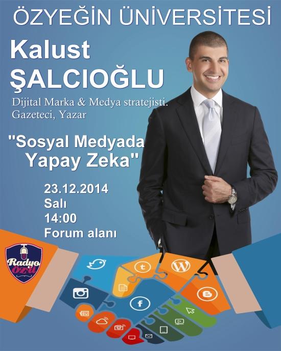23.12.2014 – Özyeğin Üniversitesi – Sosyal Medyada Yapay Zeka