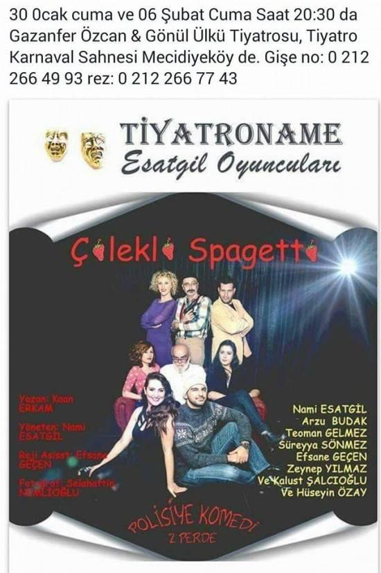 Tiyatro - 30 Ocak 2015 - Mecidiyeköy Gazanfer Özcan ve Gönül Ülkü Sahnesi