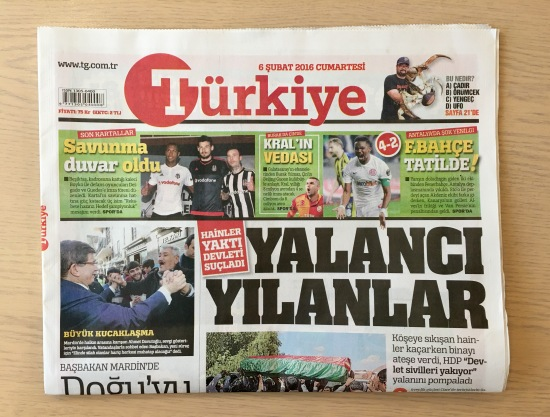 Türkiye Gazetesi - 6.2.2016 - Temel İle Dursun İstanbul'da 01