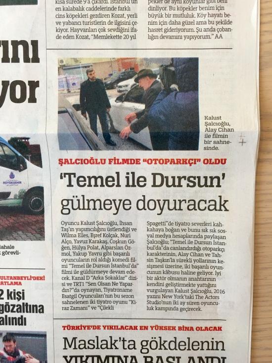 Türkiye Gazetesi - 6.2.2016 - Temel İle Dursun İstanbul'da 02