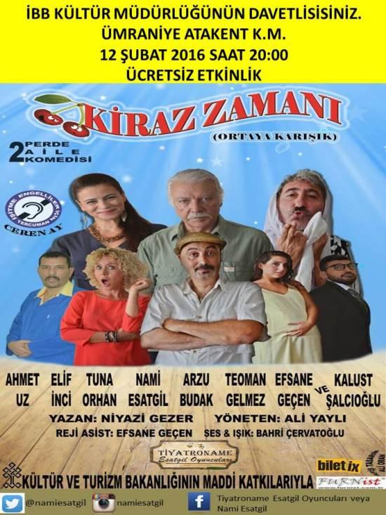 Tiyatro - 12 Şubat 2016 - Ümraniye Atakent Kültür Merkezi