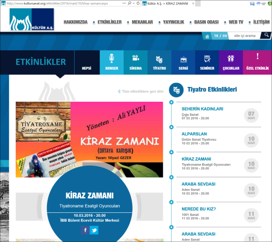Tiyatro - 10 Mart 2016 - Kartal Bülent Ecevit Kültür Merkezi 01