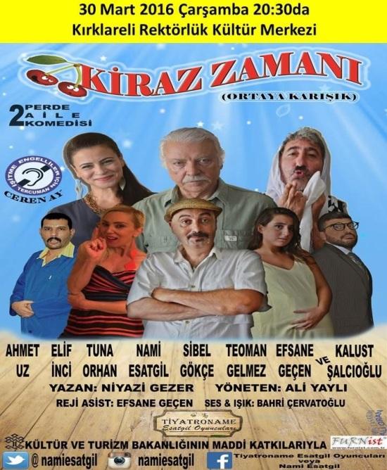 Tiyatro - 30 Mart 2016 - Kırklareli Belediyesi Kırklareli Rektörlük Kültür Merkezi 01