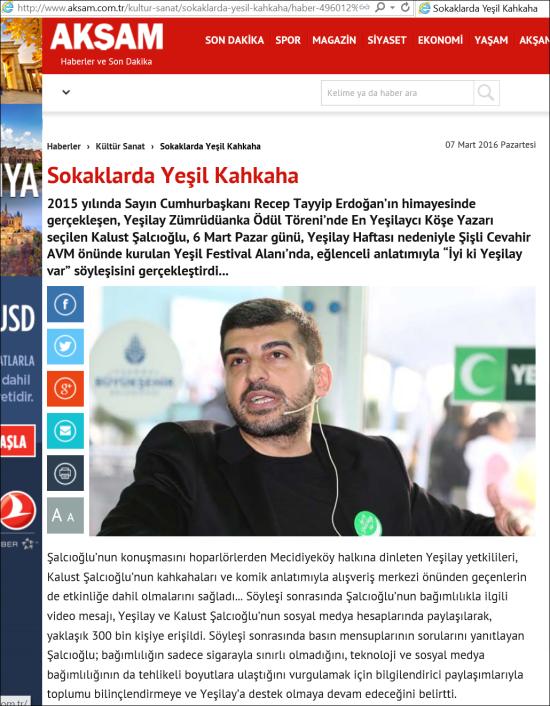 7.3.2016 - AKŞAM GAZETESİ - KÜLTÜR-SANAT