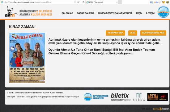 Tiyatro - 8 Nisan 2016 - Büyükçekmece Belediyesi Atatürk Kültür Merkezi 01