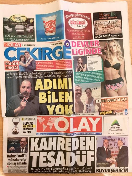 26.04.2016 - Bursa Olay Gazetesi 01