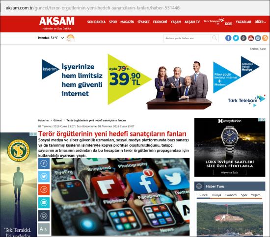 08.07.2016 - Akşam Gazetesi 01