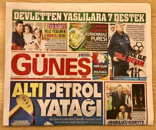 15 Kasım 2017 - Güneş Gazetesi 001